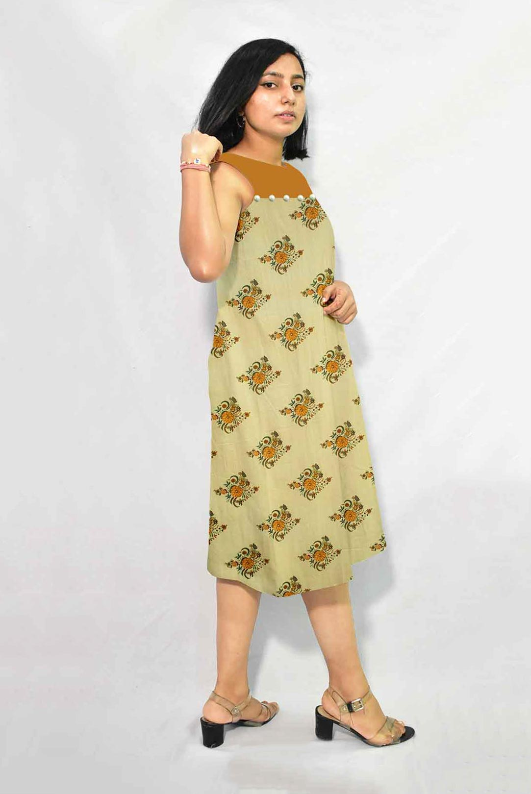 Cotton A Line Dress – Genda Fool