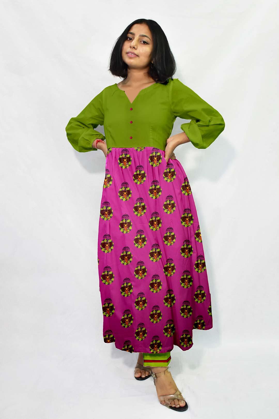 Georgette Frock Style Suit – Jumbo Rani