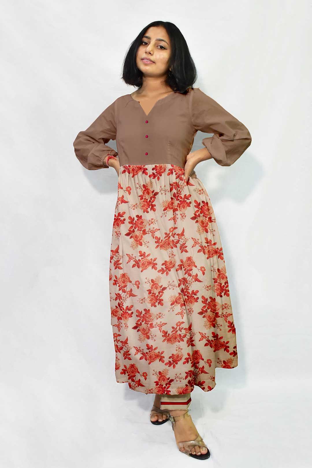 Muslin Frock Style Suit – Bella Rosa