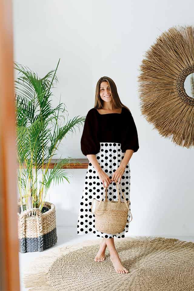 Georgette Tier Dress – Dots