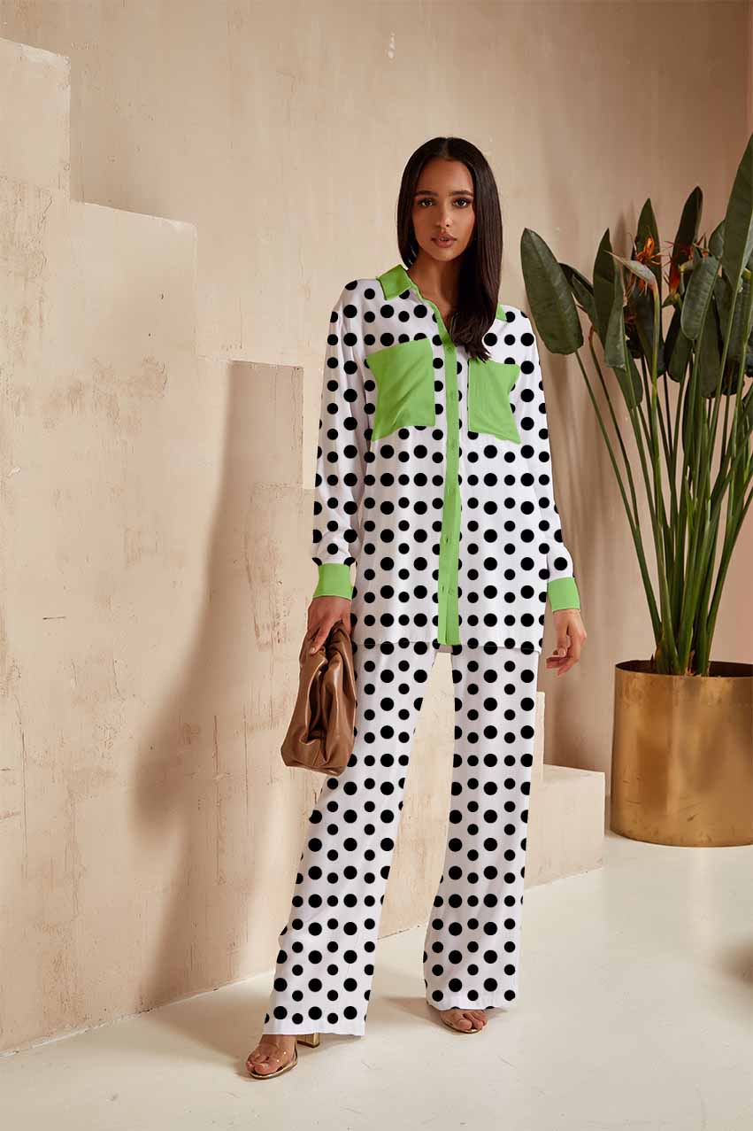 Georgette Top with Bottom – Dots