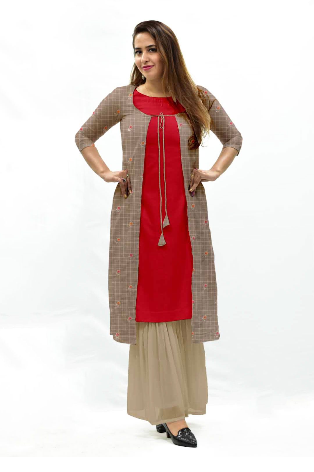 Cotton Embroidery Sharara Suit – Pie in the sky