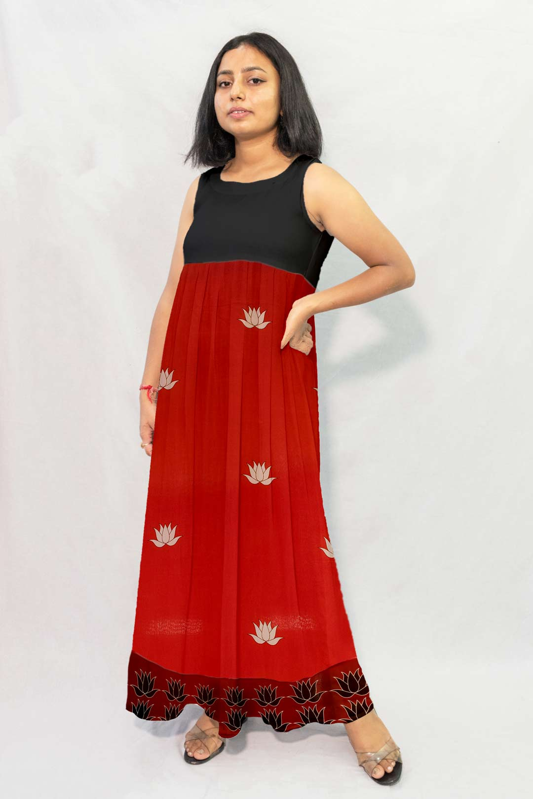 Georgette Maxi Dress – Kamla