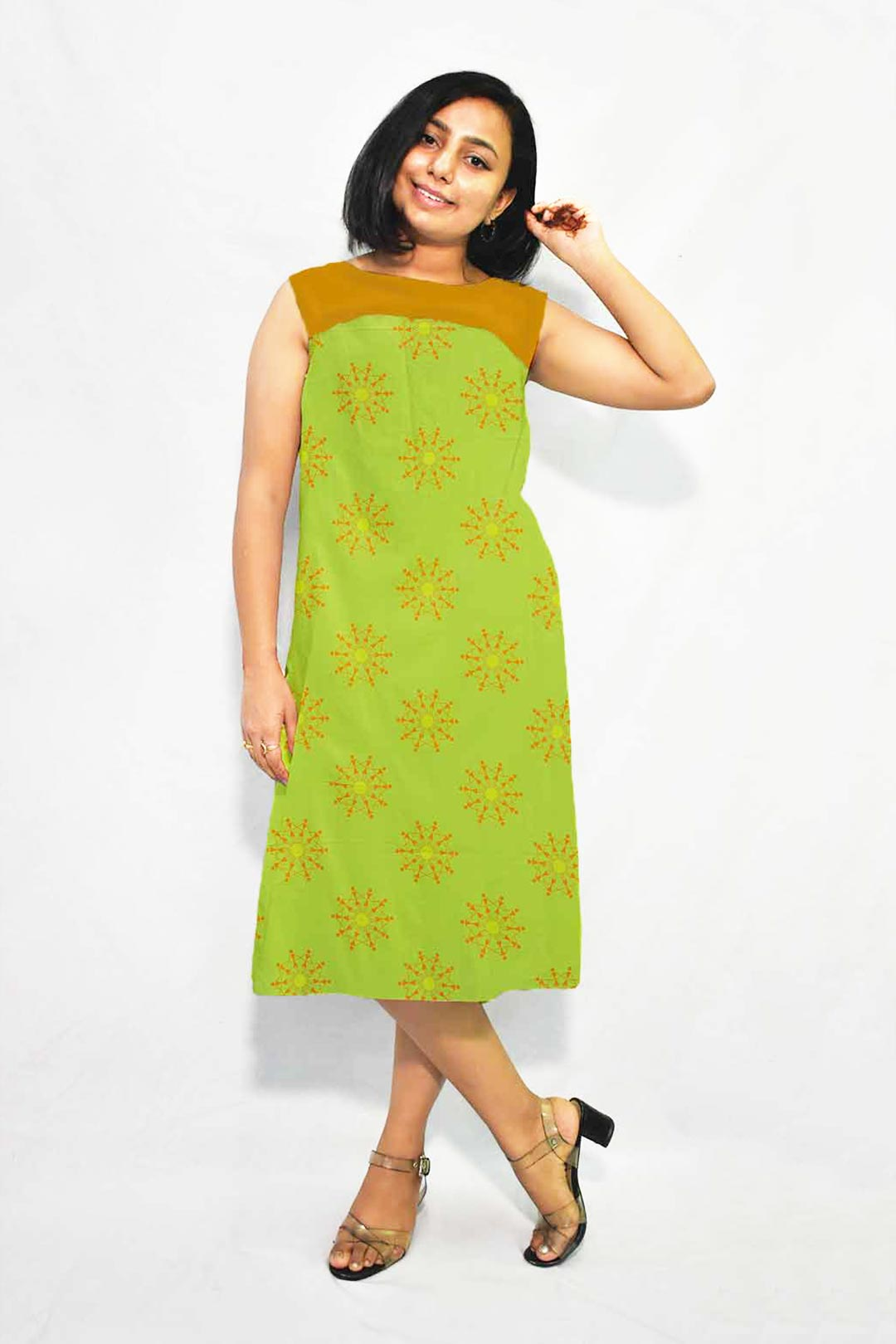 Georgette A Line Dress – Warli