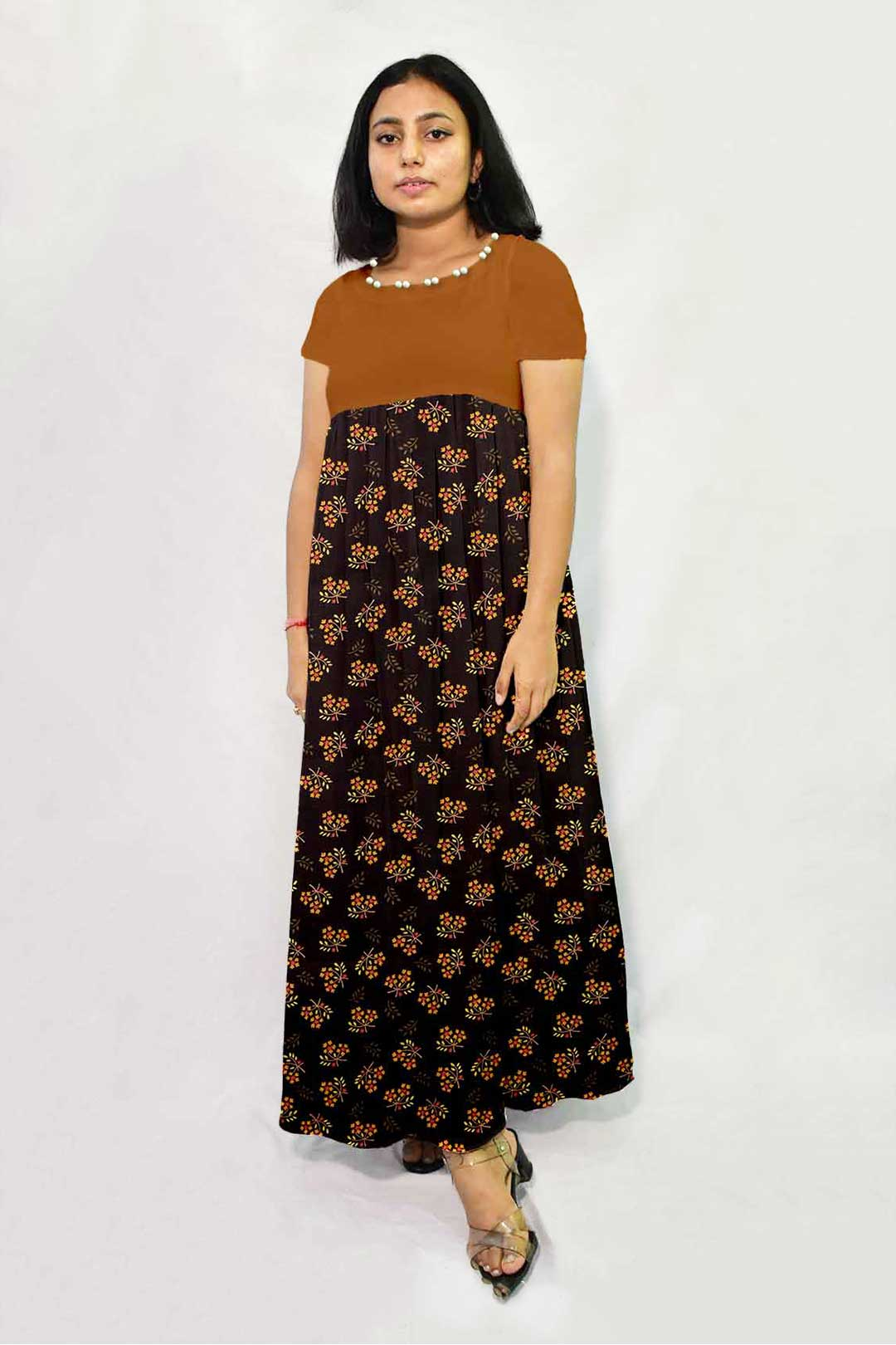 Pure Linen Maxi Dress – Night Bloom