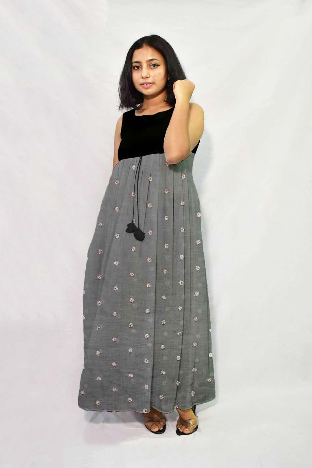 Linen Maxi Dress – Aafreen