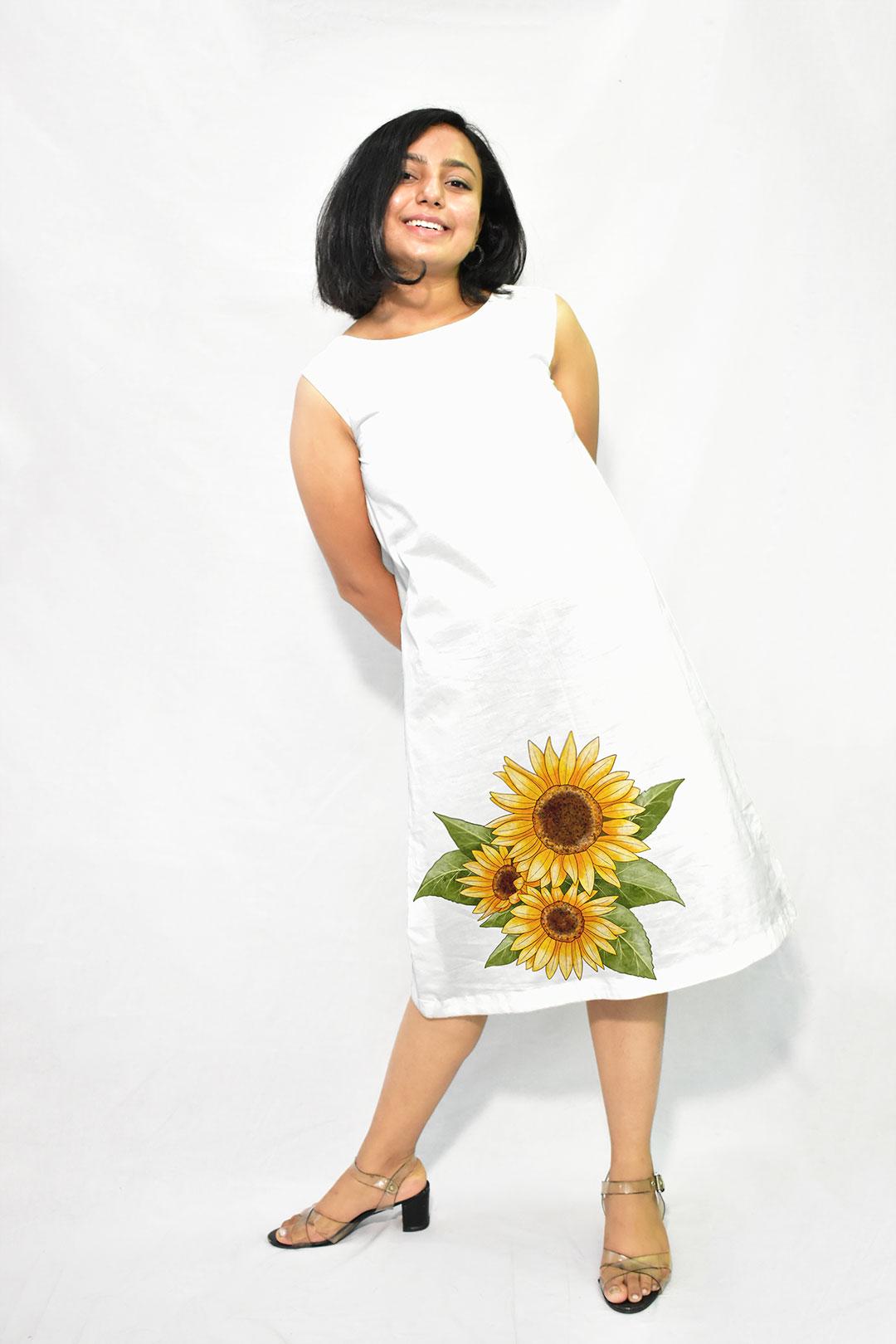 Georgette A Line Dress – Sun
