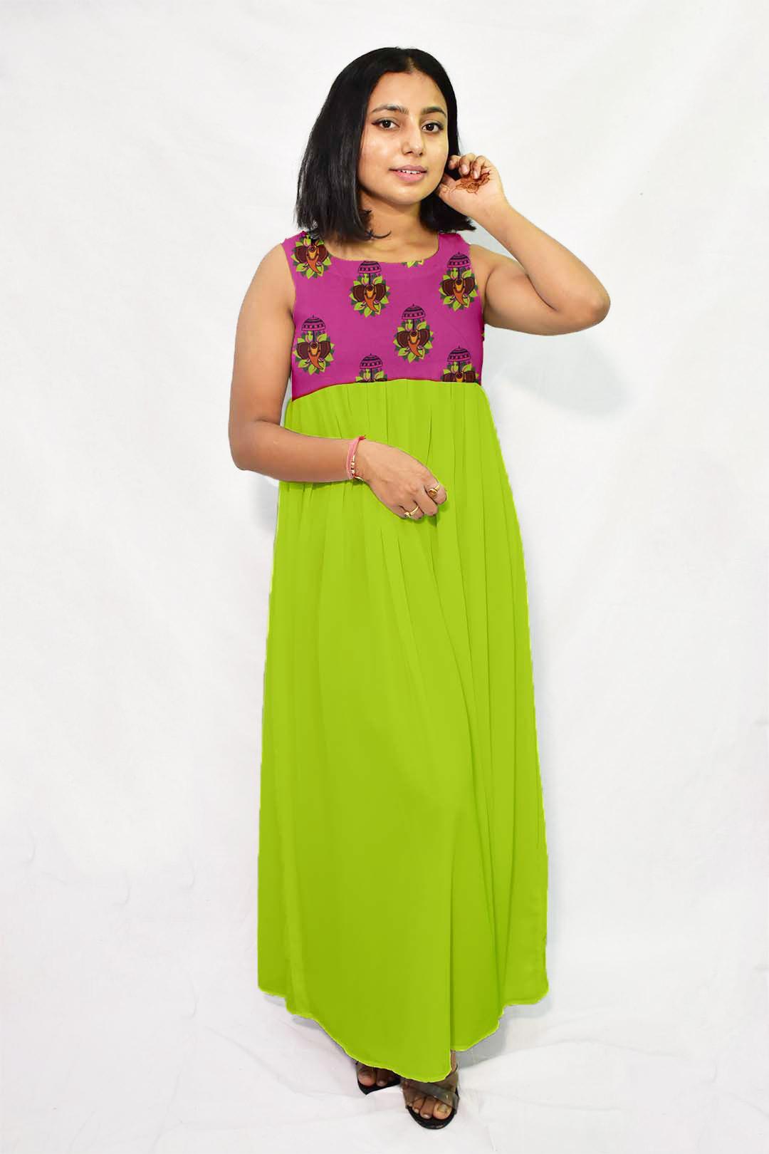 Georgette Maxi Dress – Jumbo Rani