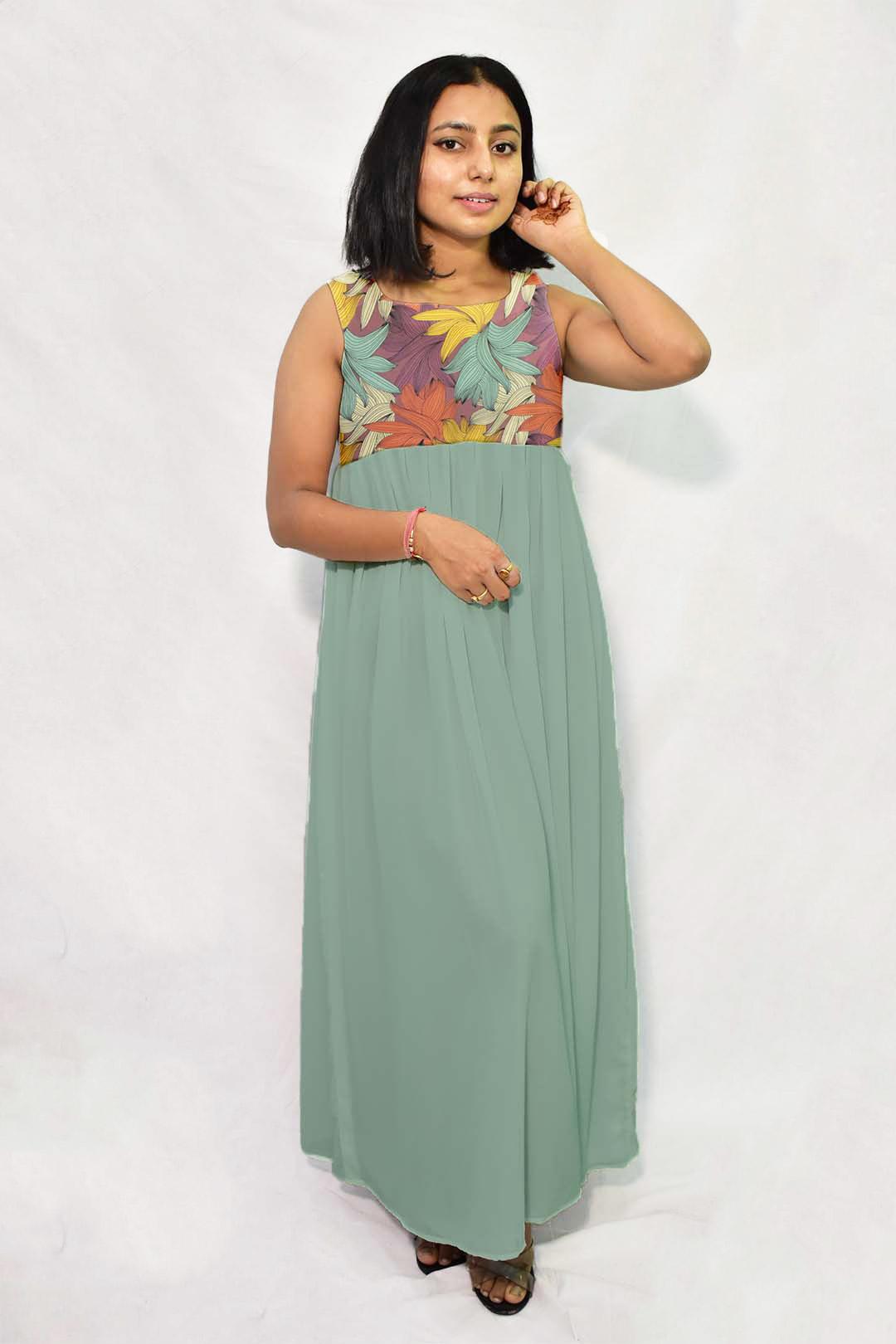 Georgette Maxi Dress – Flora