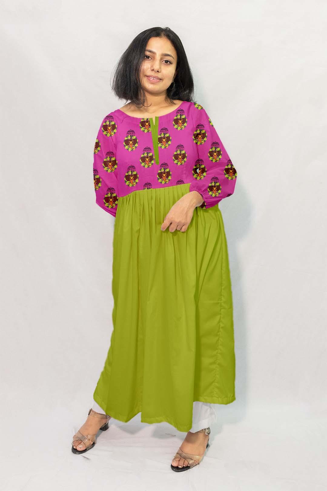 Georgette Frock Style Kurta – Jumbo Rani