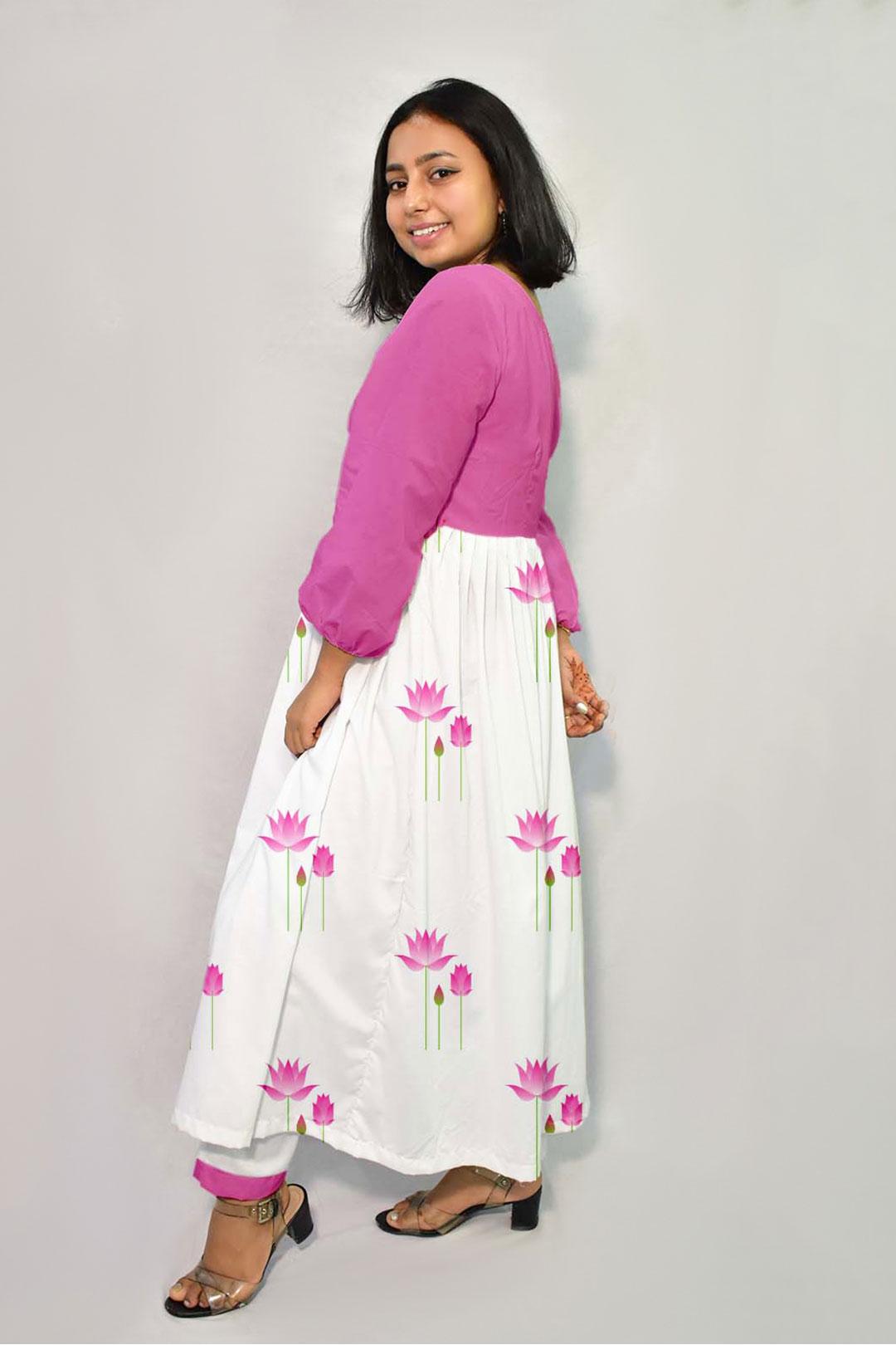 Georgette Frock Style Kurta – Indian Lotus