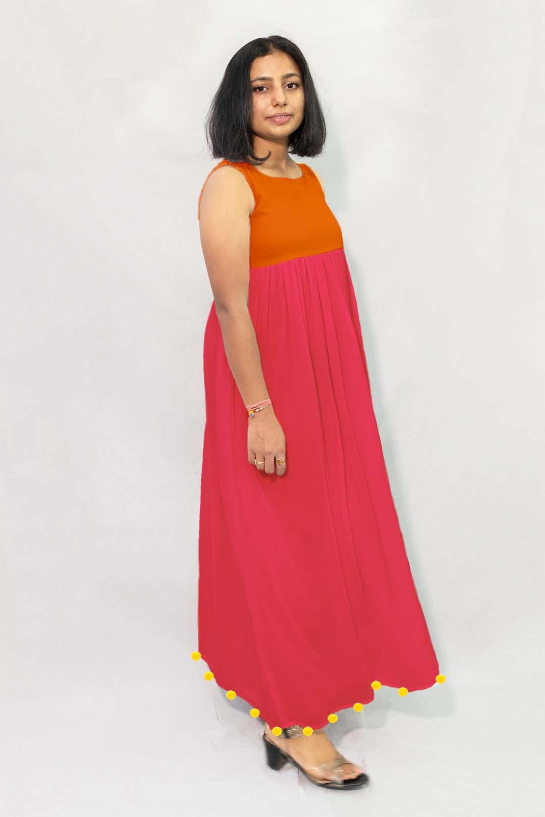 Georgette Maxi Dress – Solid