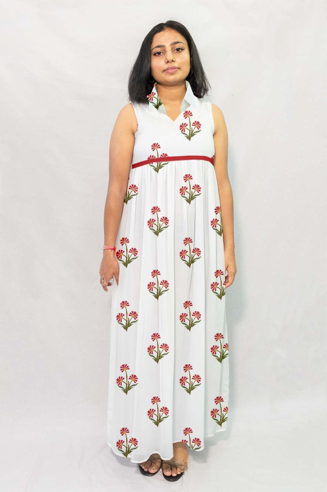 Georgette Maxi Dress – Guldasta