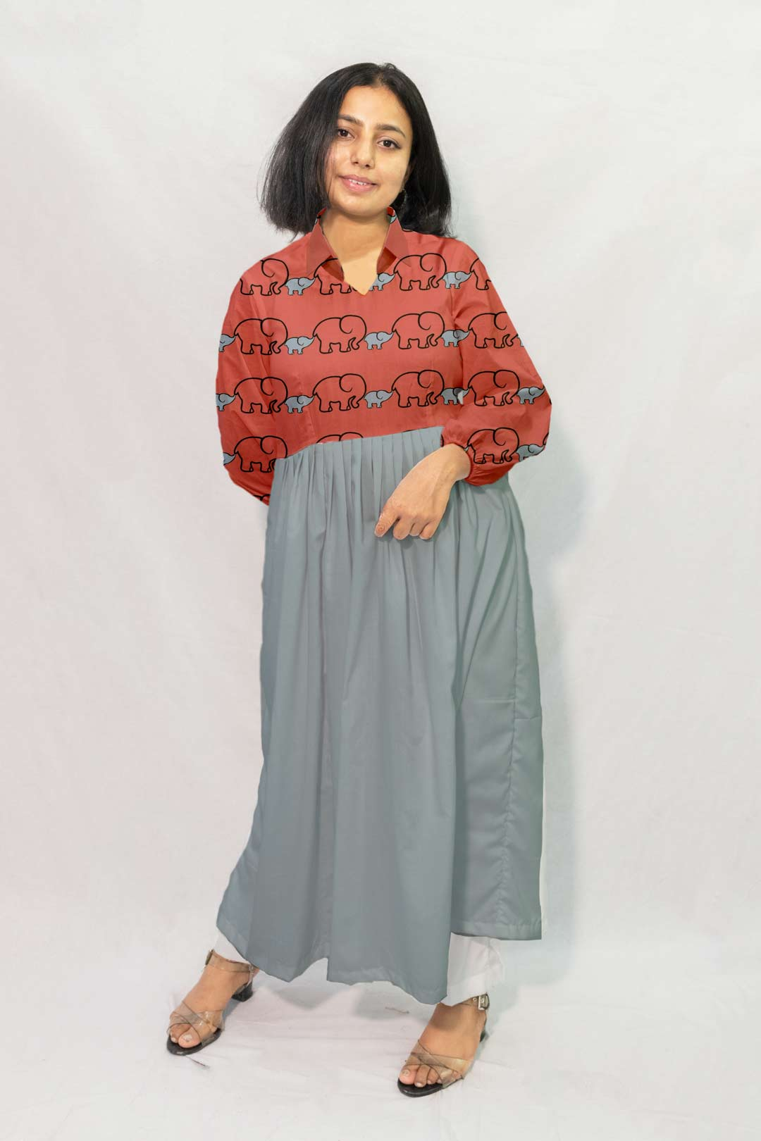 Georgette Frock style Kurta – Bade Miya, Chote Miya