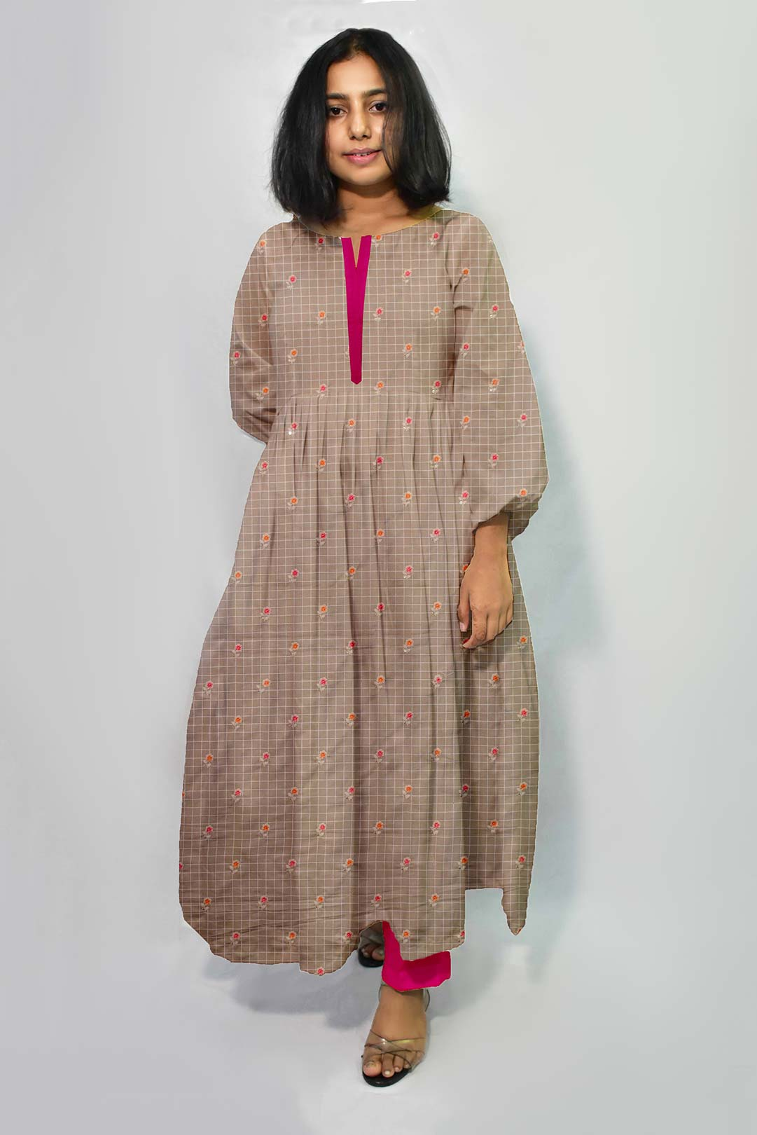 Cotton Embroidery Frock Style Suit – Pie in the sky