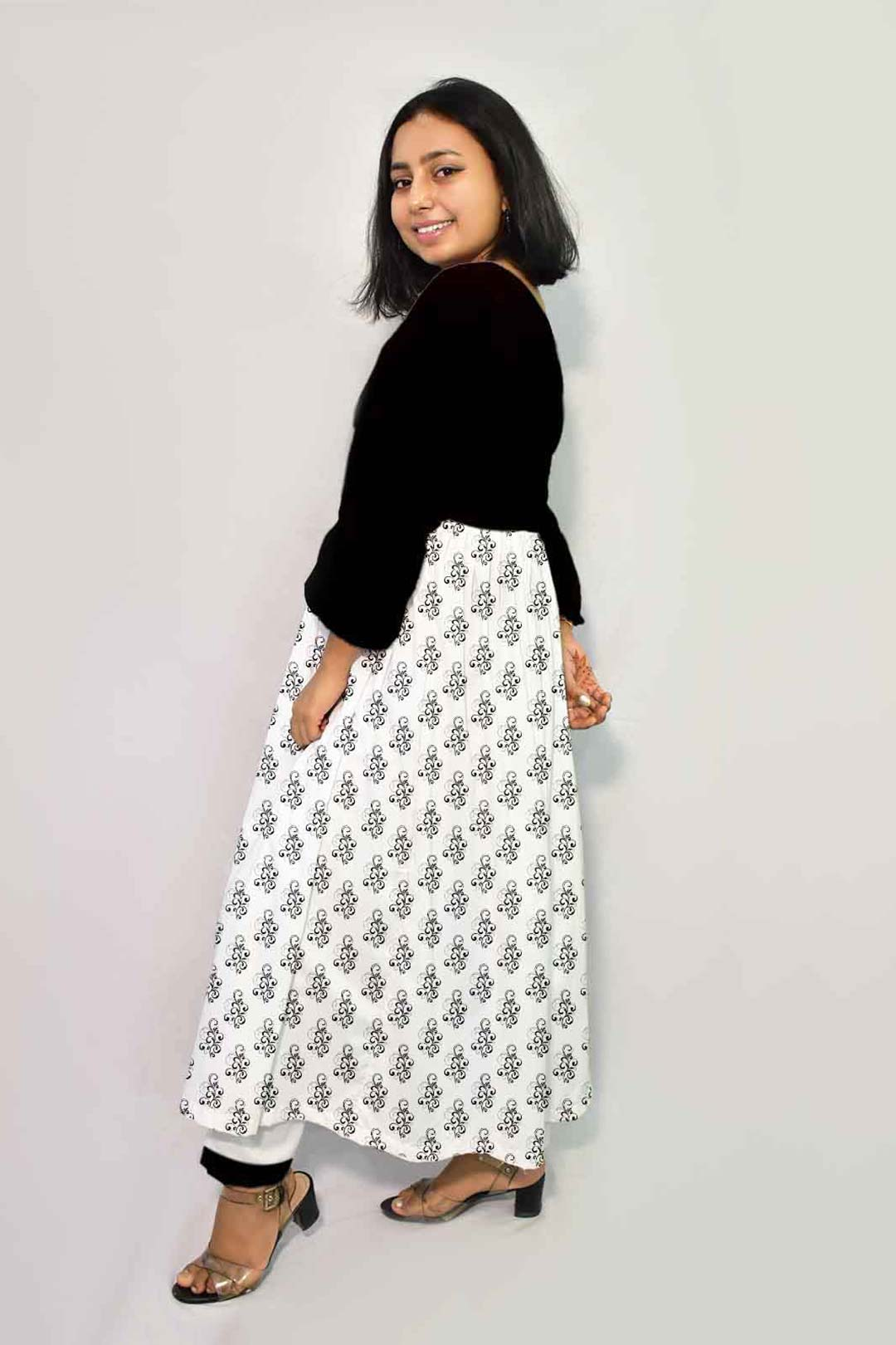 Georgette Frock Style Suit – Classic