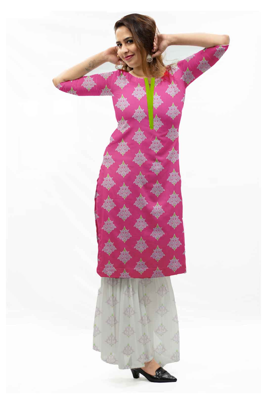 Georgette Sharara Suit – Maharani