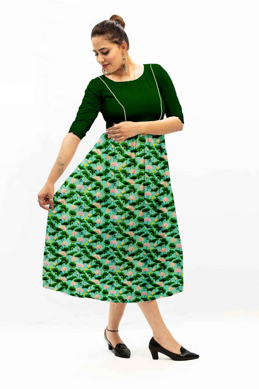 Georgette Frock Style Dress – Flower Tale