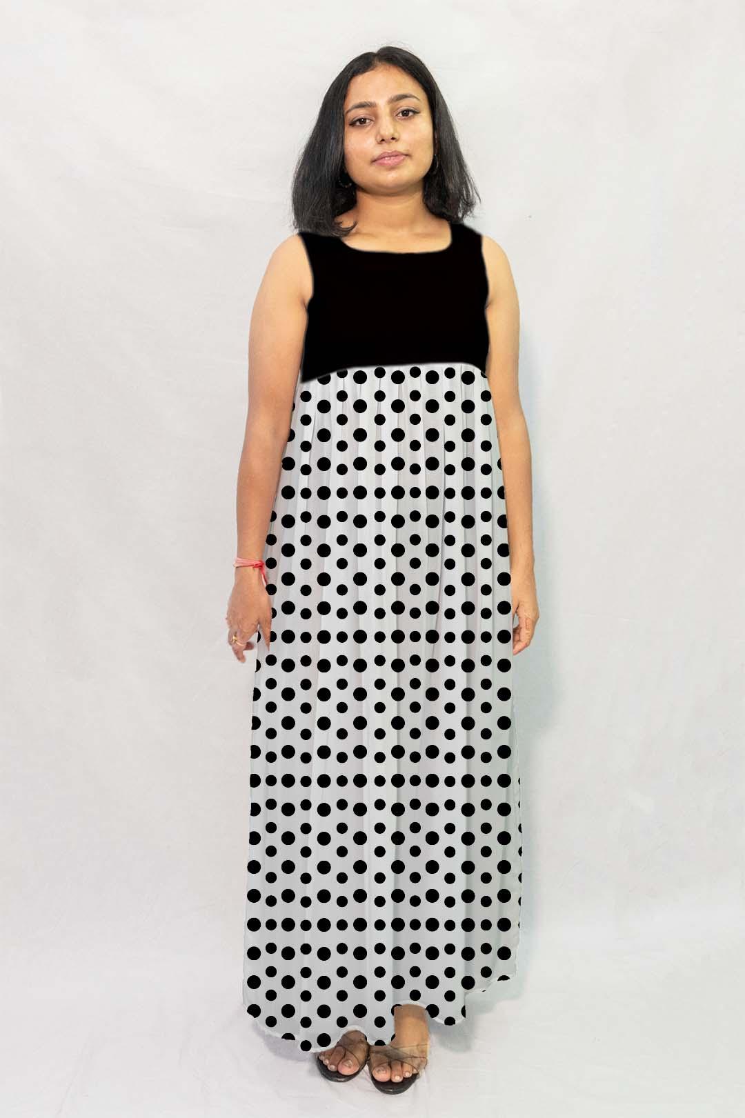 Georgette Maxi Dress – Dots