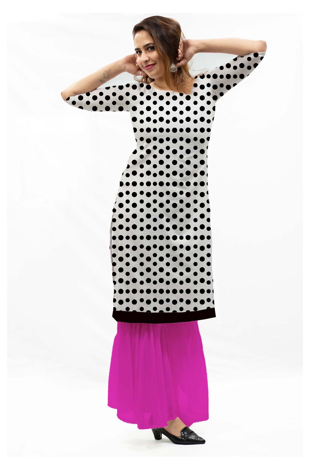Georgette Sharara Suit – Dots