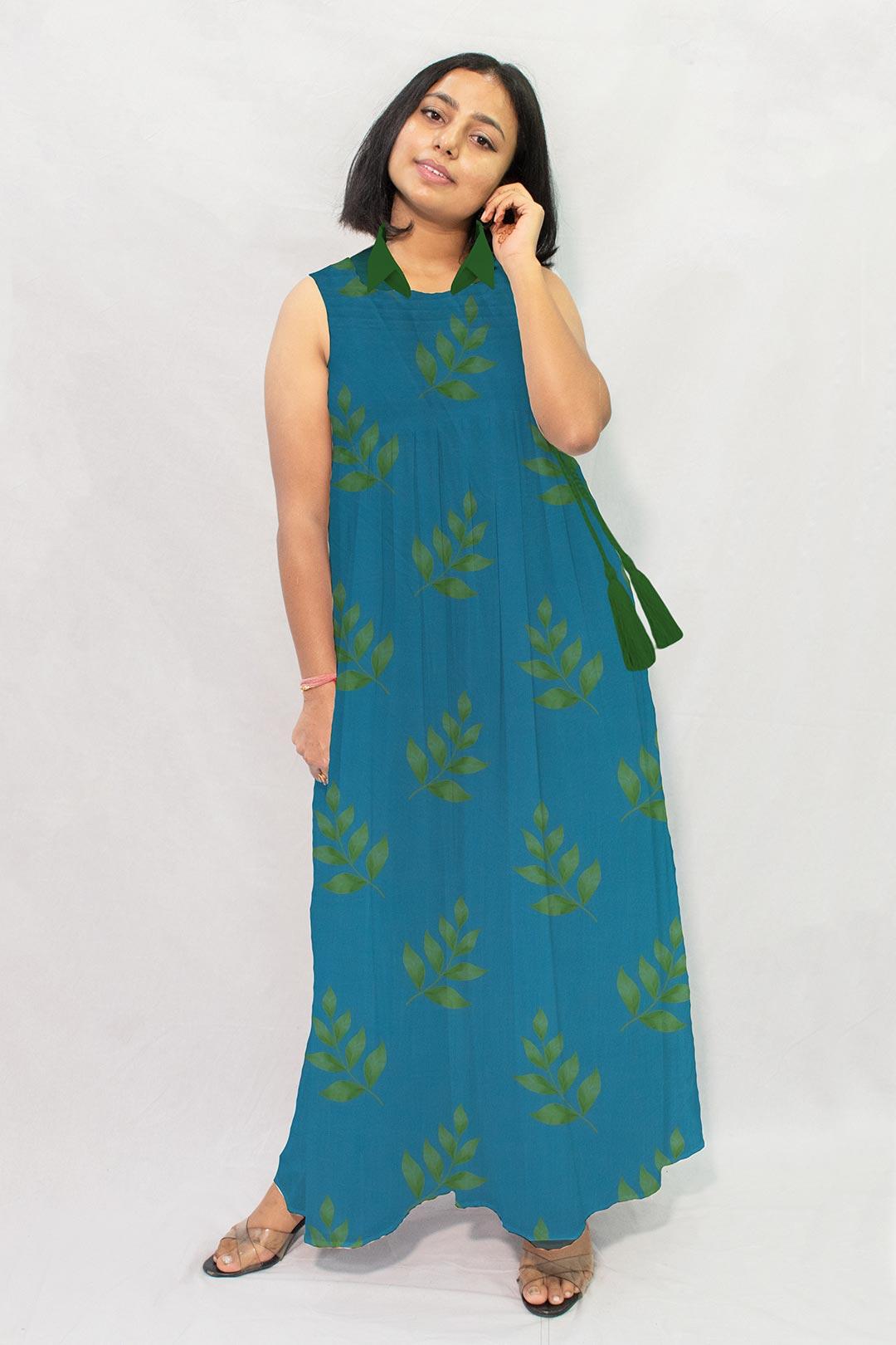 Georgette Maxi Dress – Leaflet
