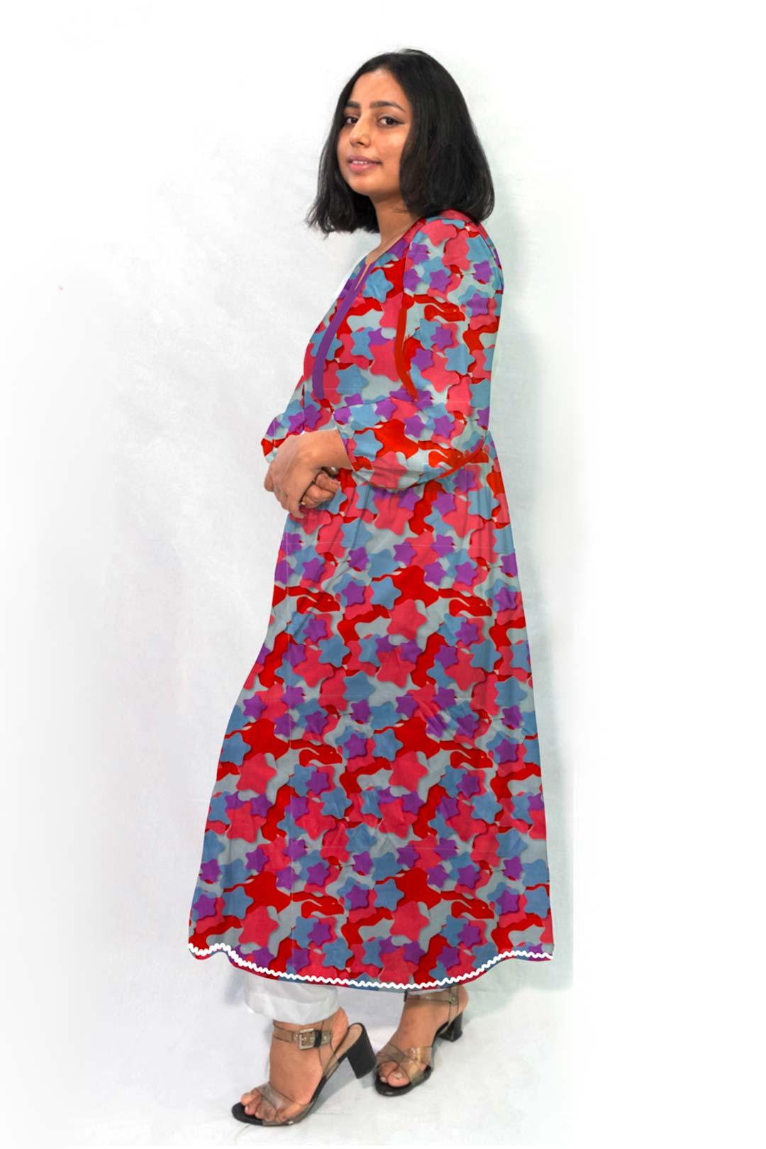 Georgette Frock Style Kurta – Starry Night