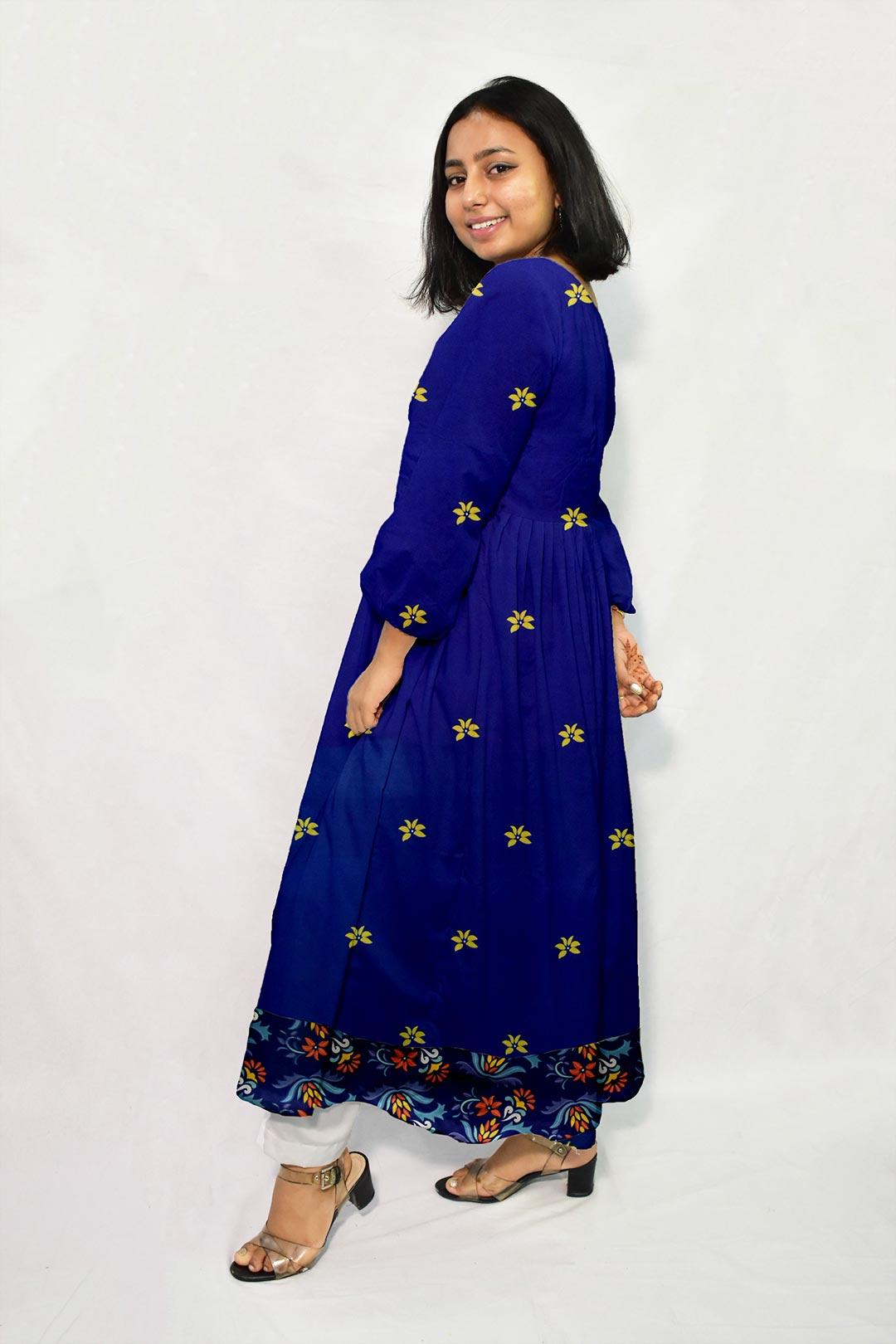 Georgette Frock Style Kurta – Blu Bloom