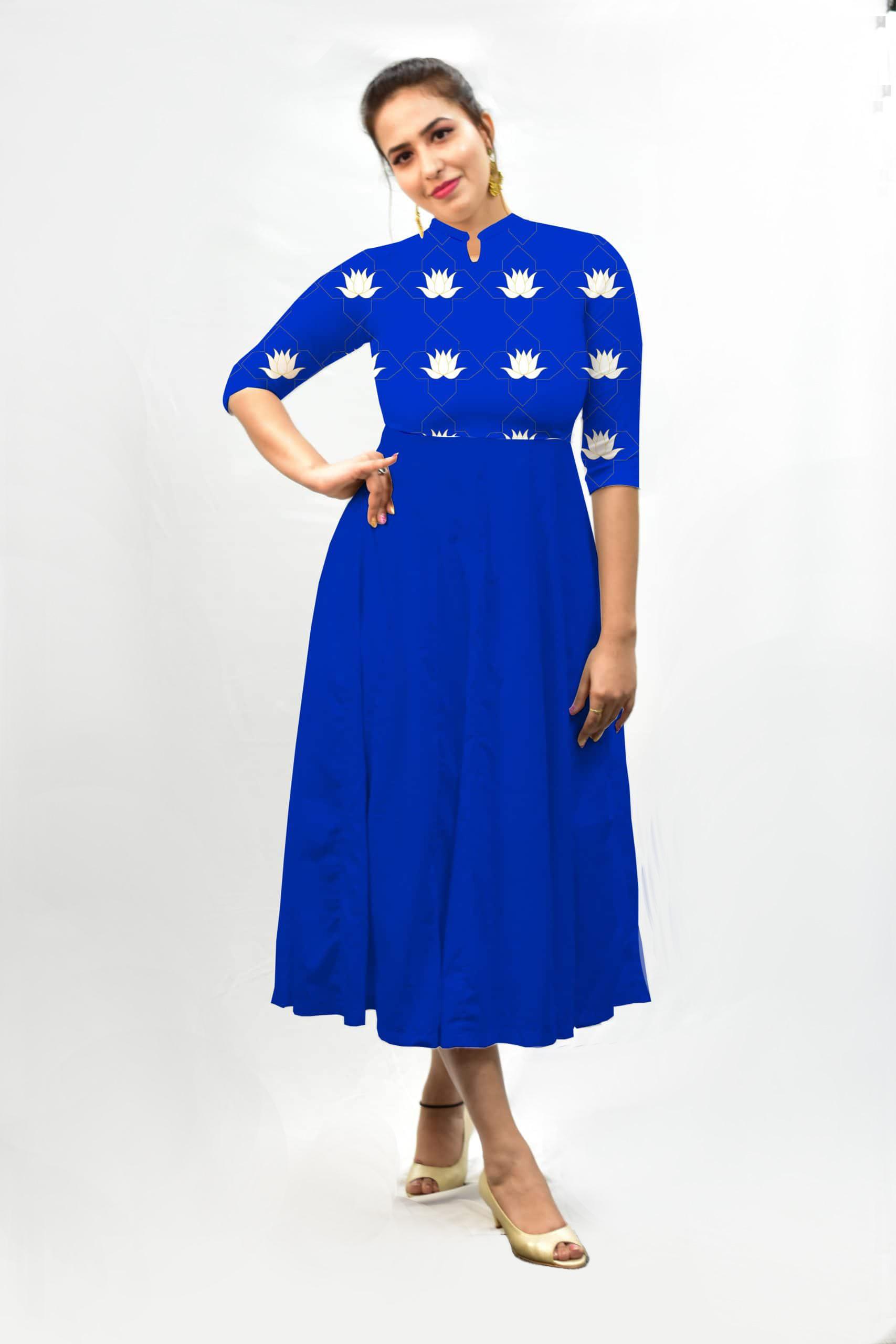 Georgette Frock Style dress – Neel Kamal