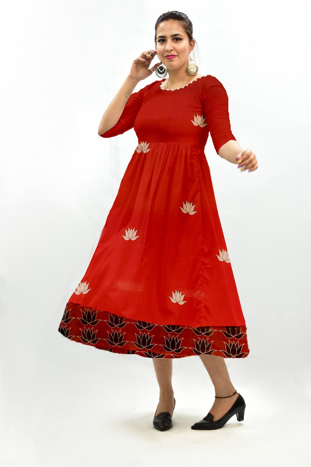 Georgette Frock Style Dress – Kamla