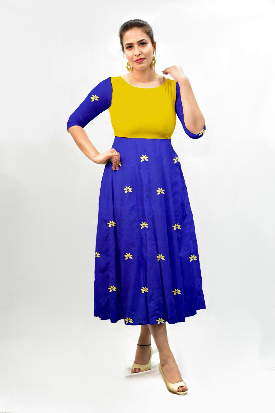 Georgette Frock Style Dress – Blu Bloom