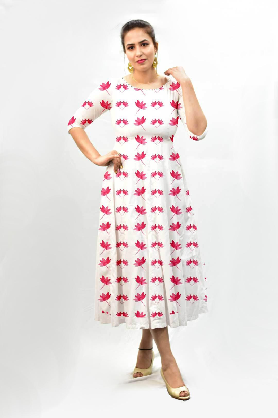 Georgette Frock style dress – Pink Petal