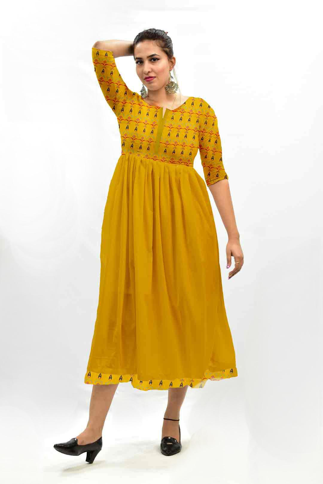 Georgette Frock Style Dress – Amber