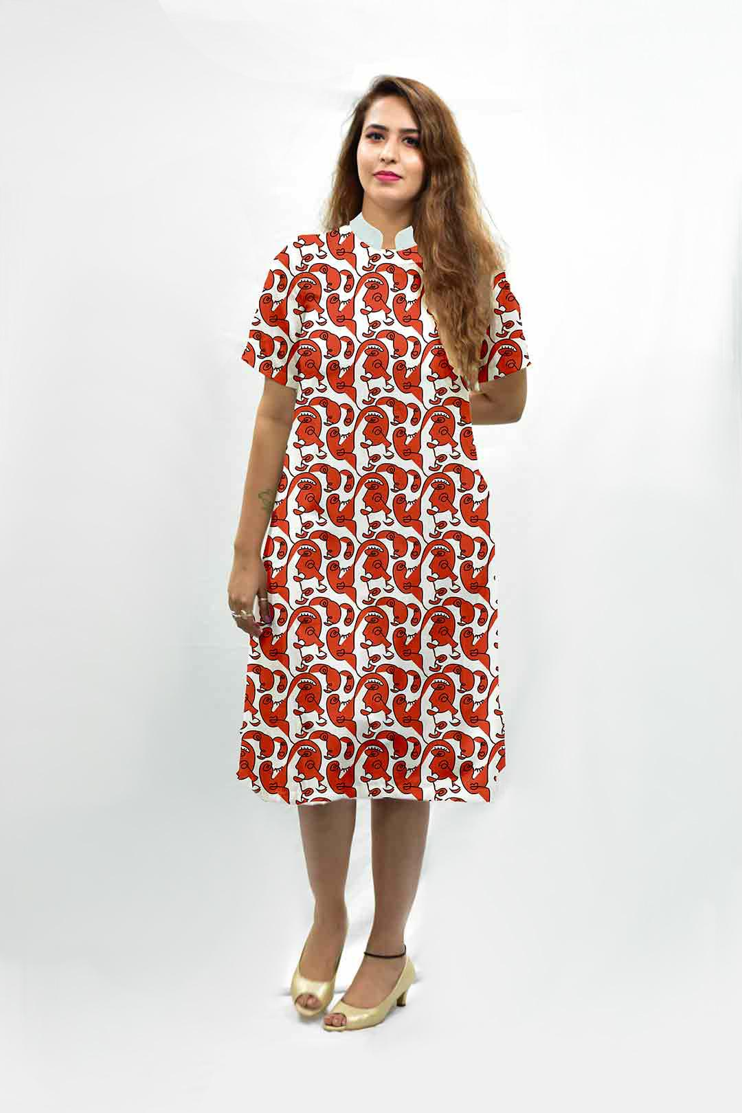 Georgette A Line Dress – Faces