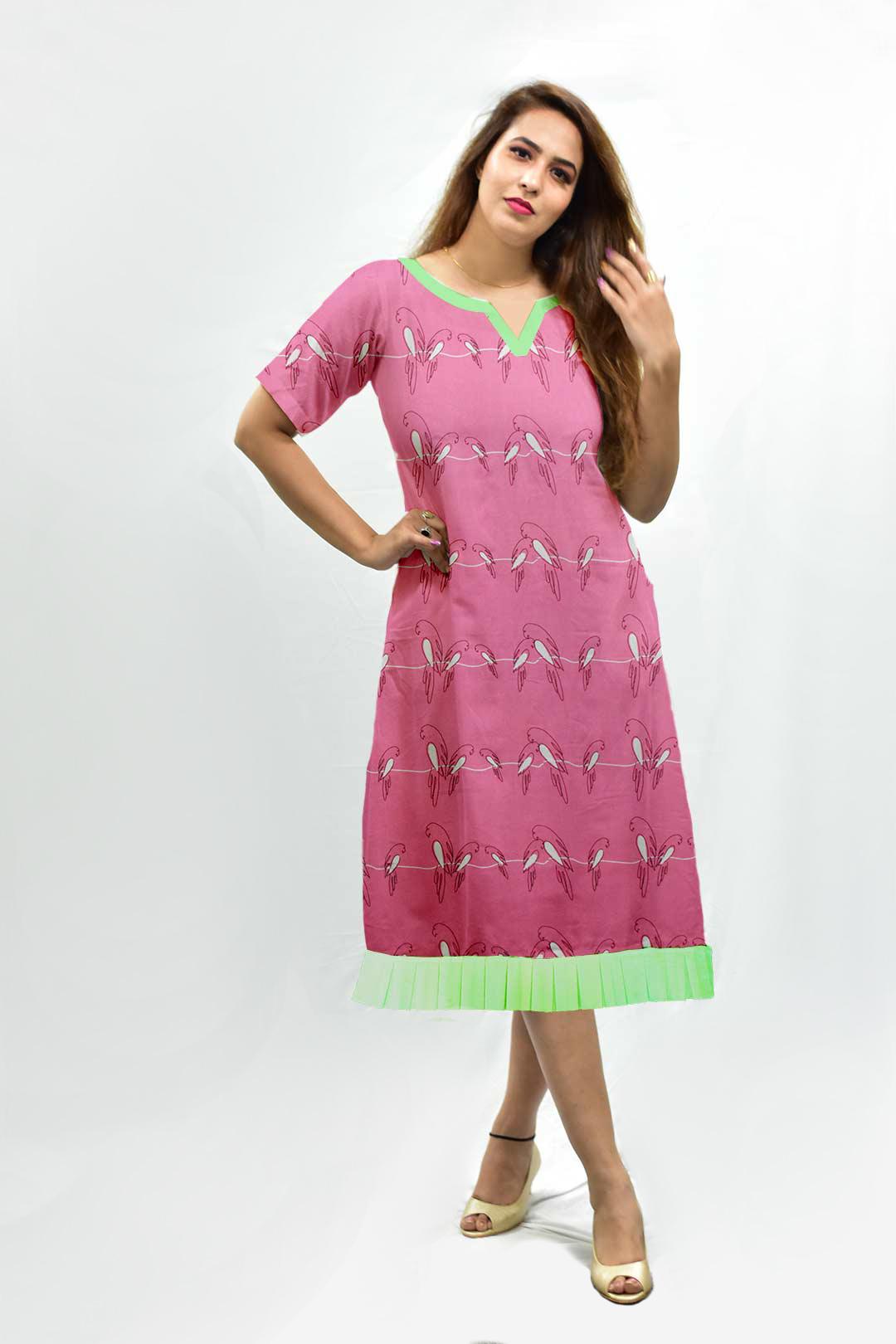 Georgette A Line Dress – Churpies