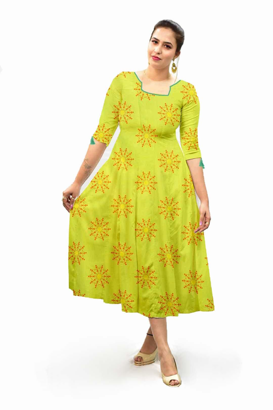 Cotton A line dress – Warli