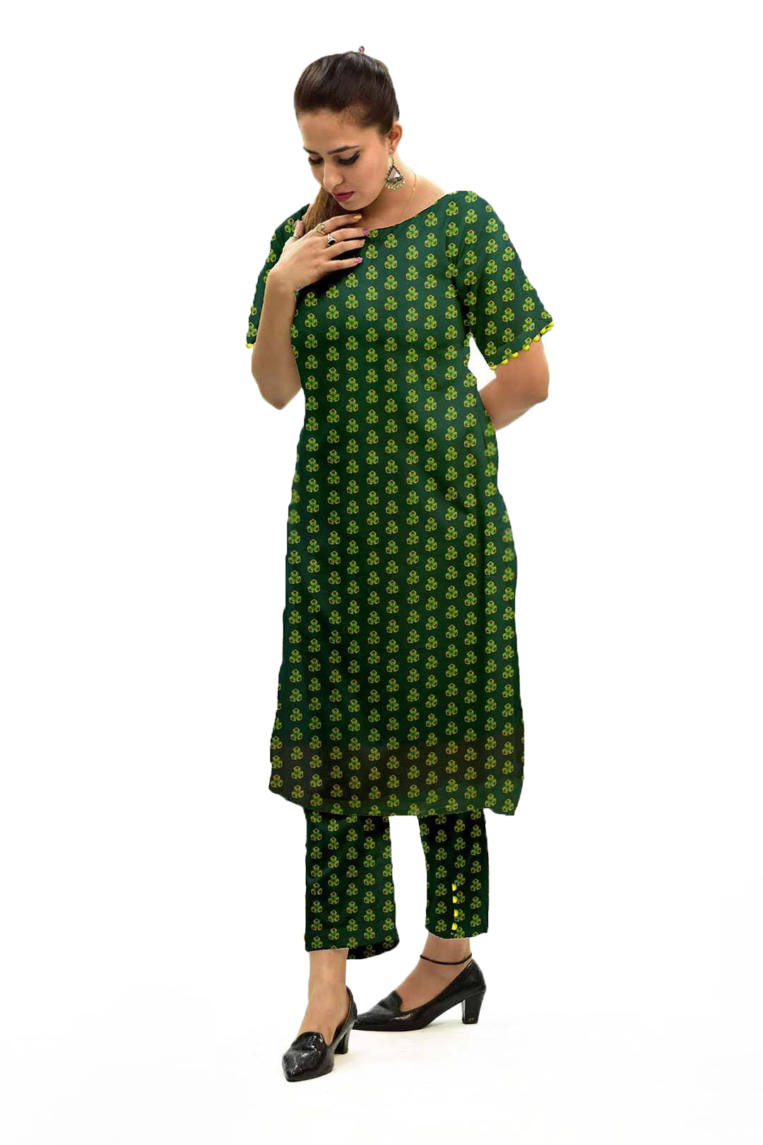 Cotton – Cambric Co-ord Set – Spinach