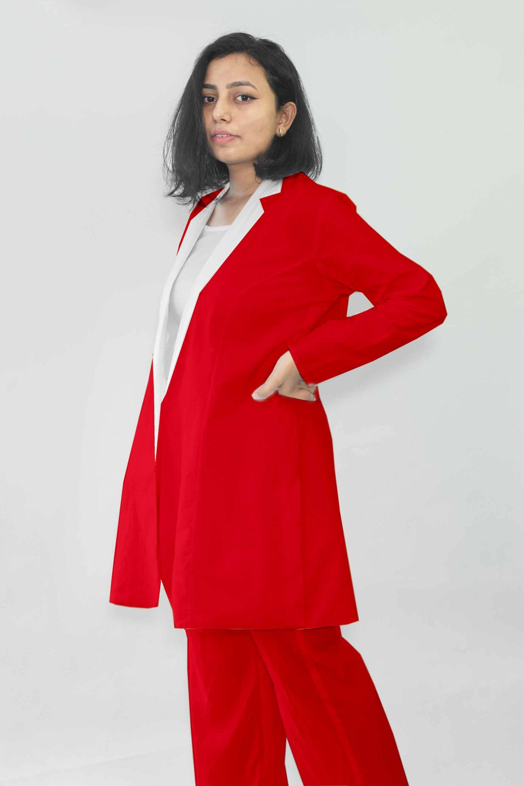 Cotton Co-ords-Monochrome (Red)