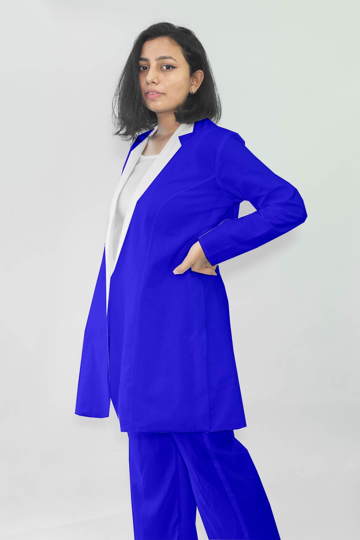 Cotton Co-ords-Monochrome (Royal Blue)