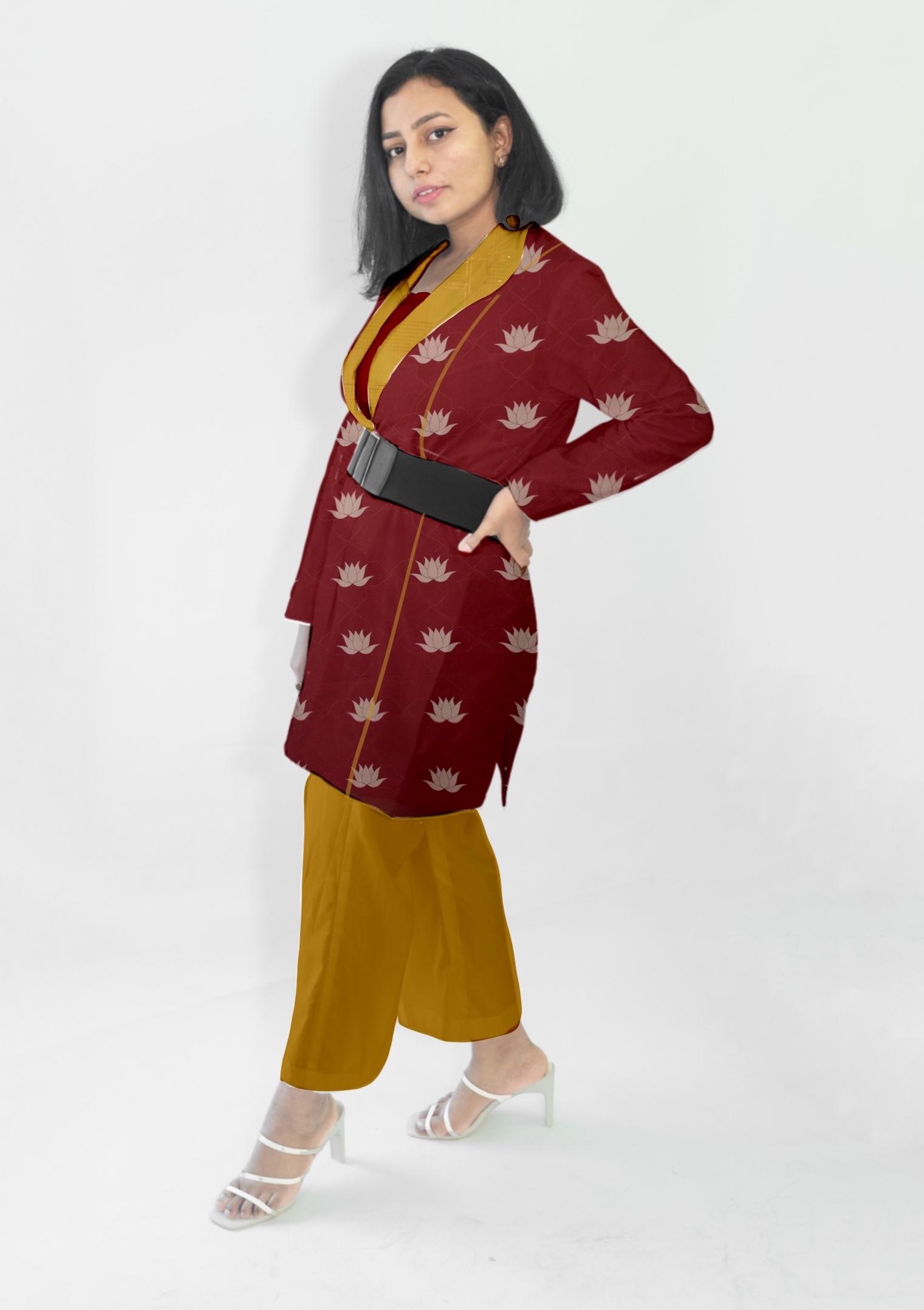 Cotton Blazer Set-Kamal