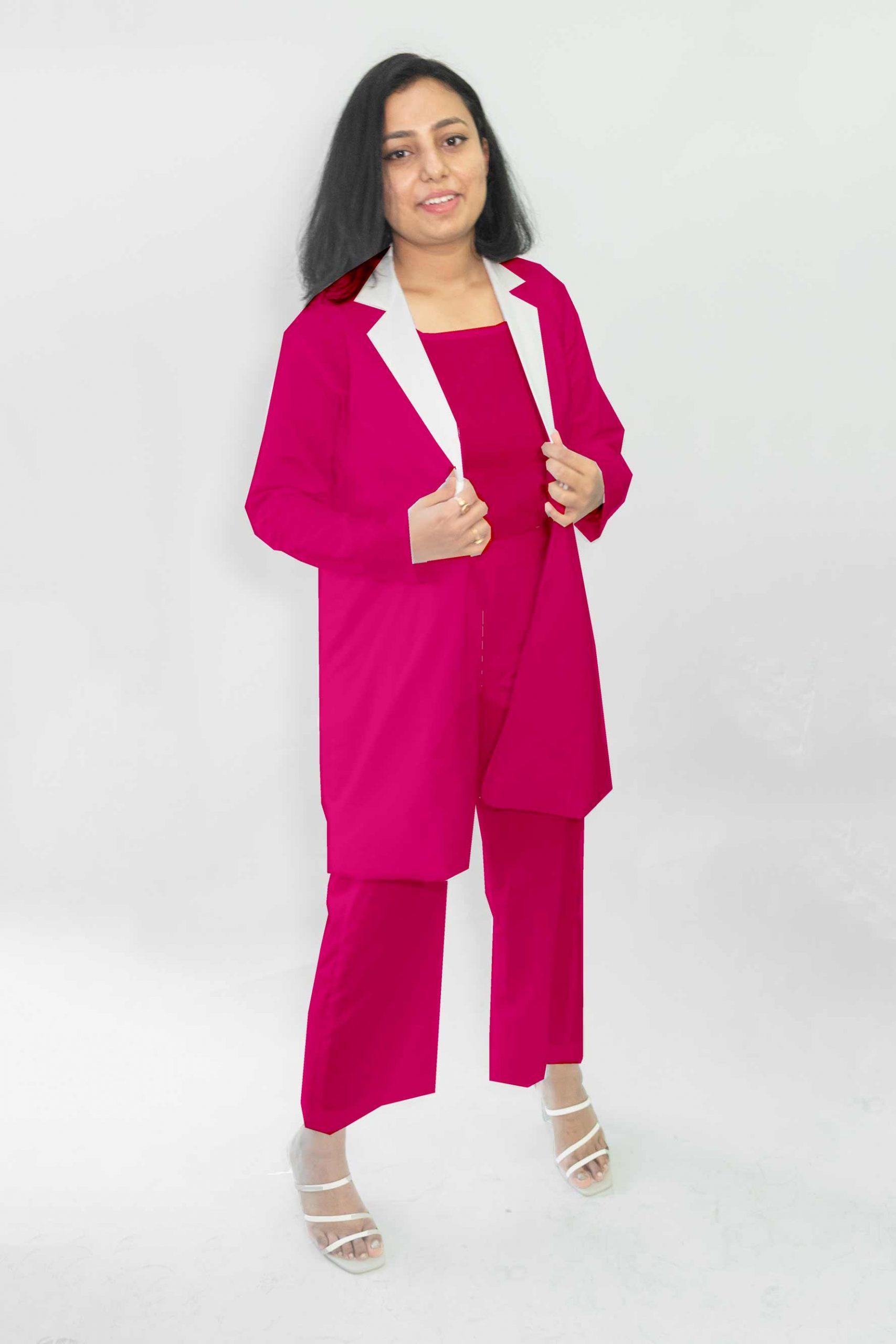 Cotton Co-ords-Monochrome (Dark Pink)