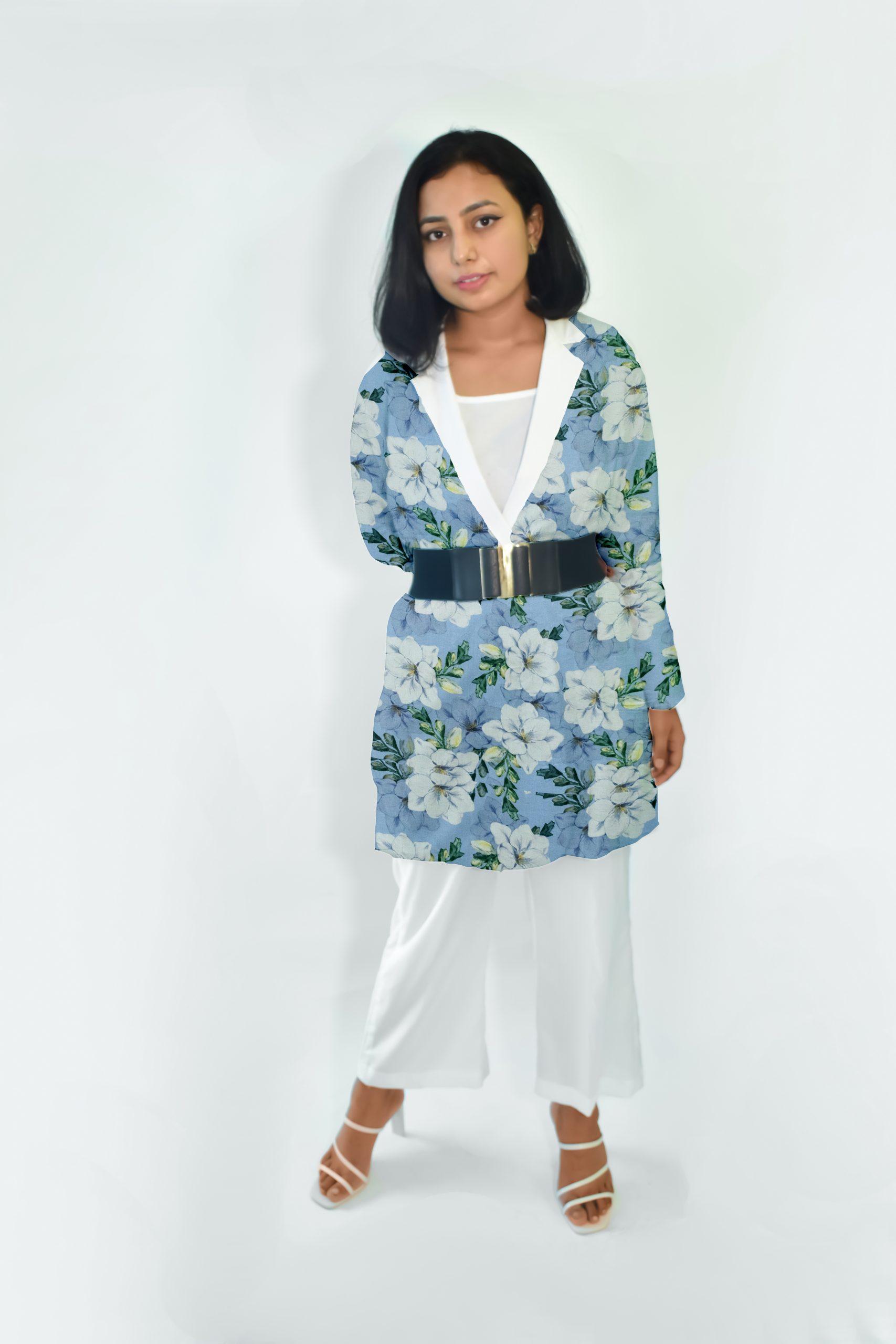 Cotton Blazer Set-Floral Play