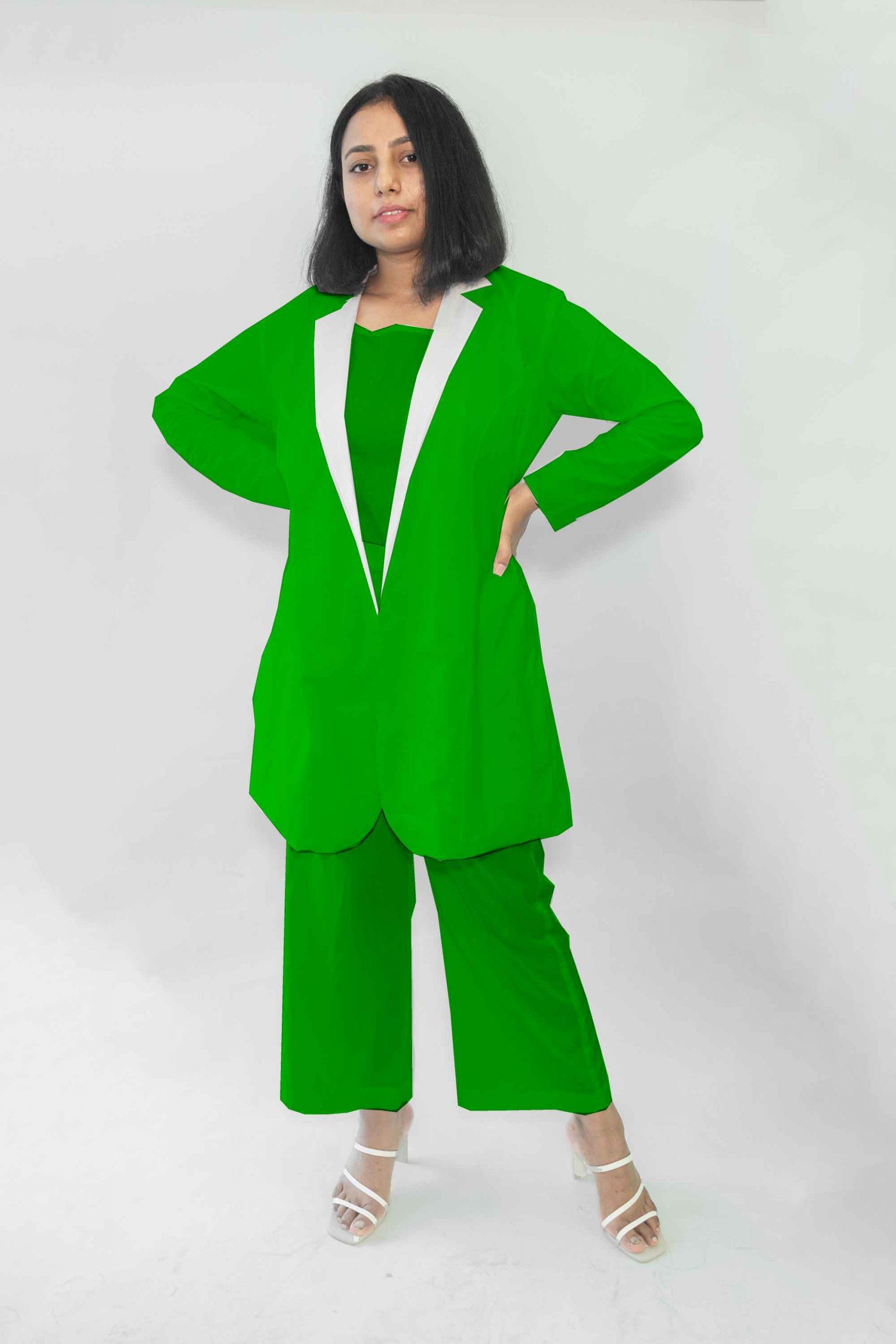 Cotton Co-ords-Monochrome (Green)
