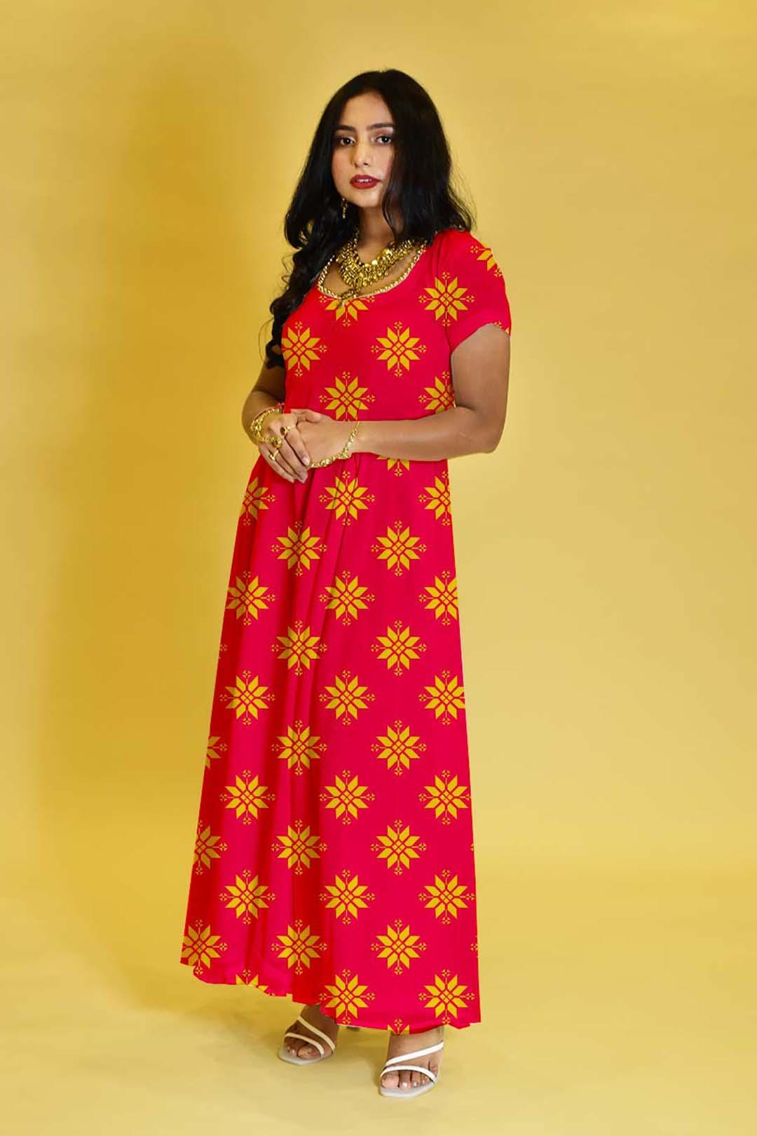 Rayon Anarkali Dress – Karwa Diva