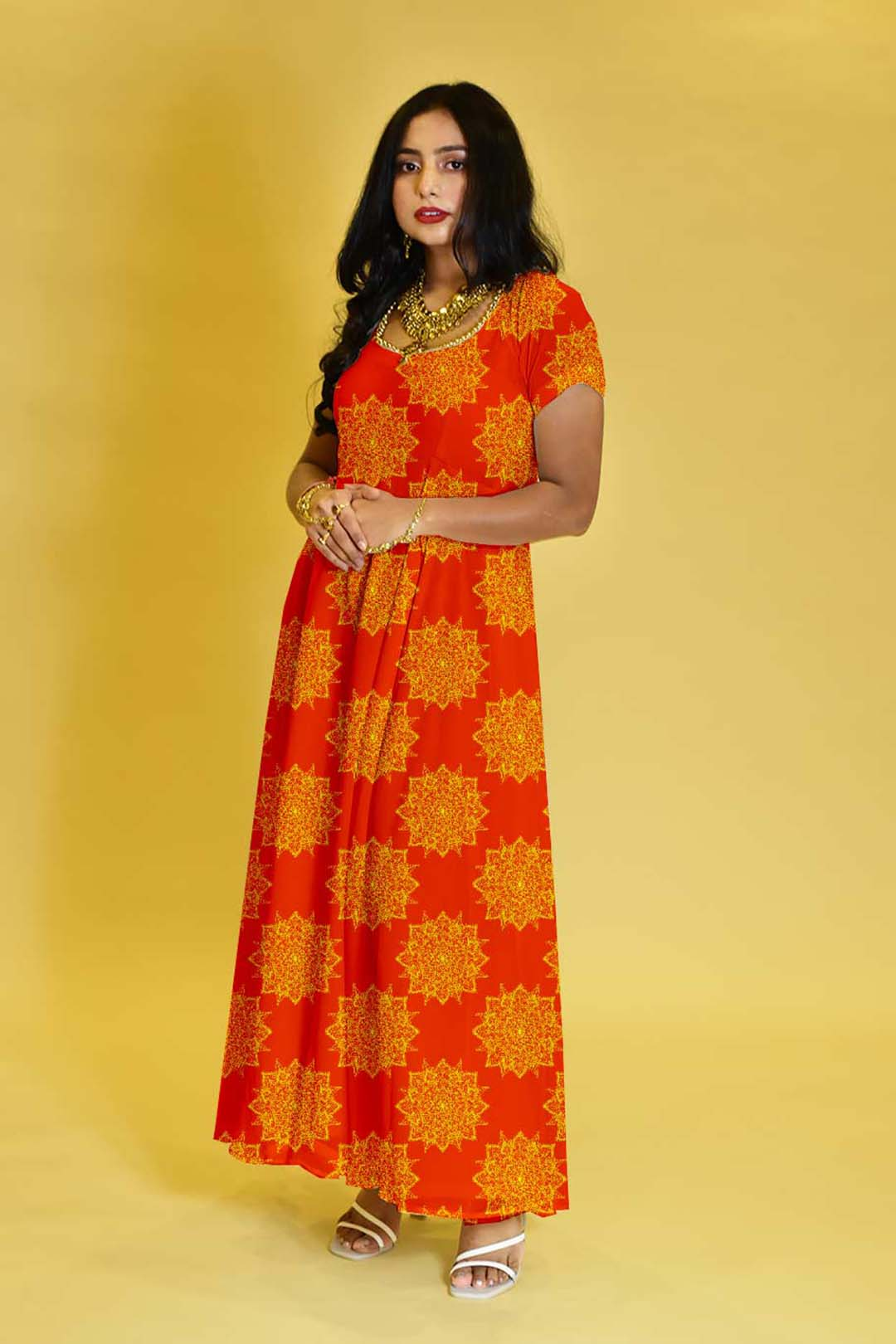 Satin Anarkali dress – The Stunner