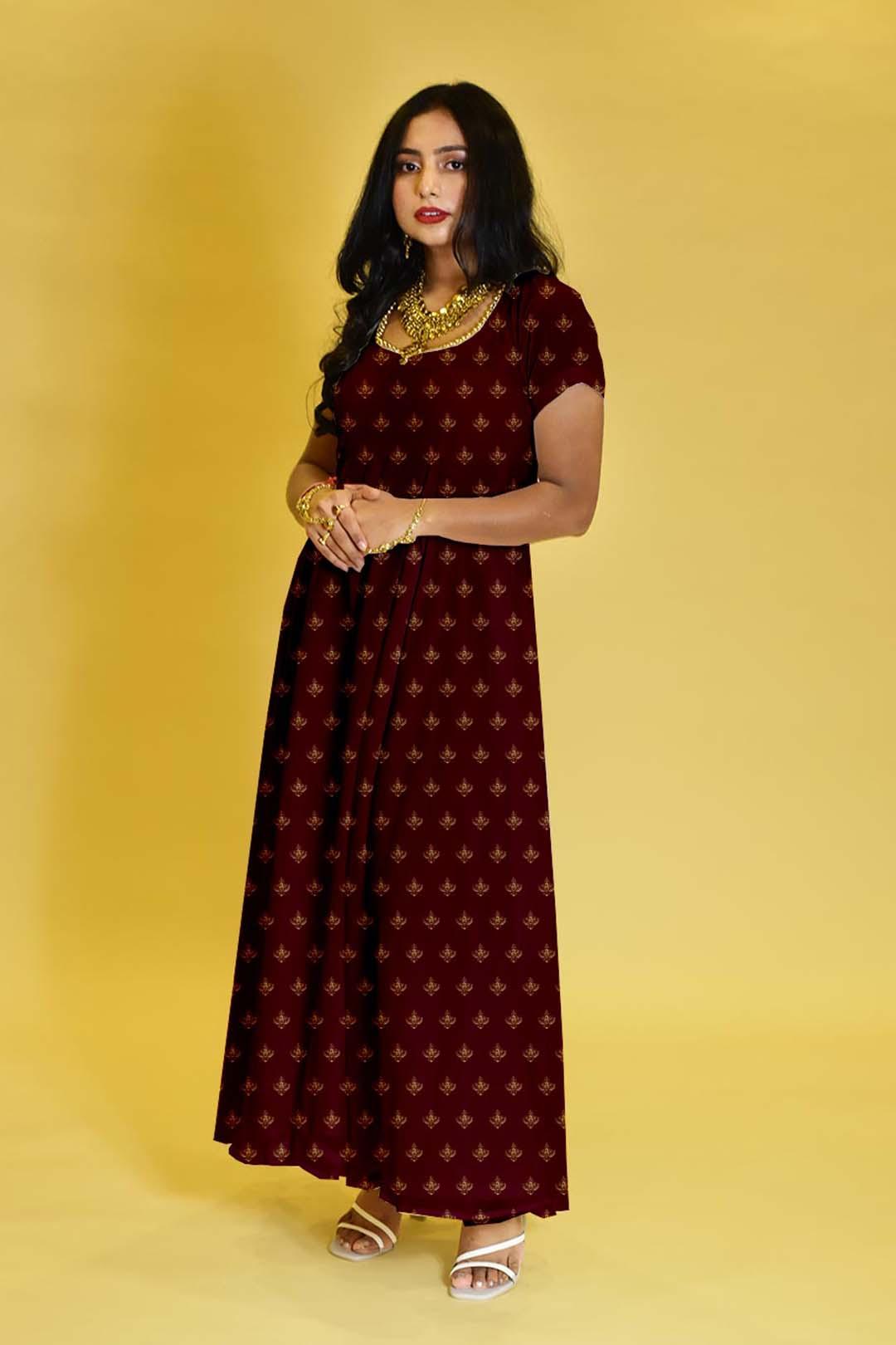 Crepe Anarkali Dress – Motif Play