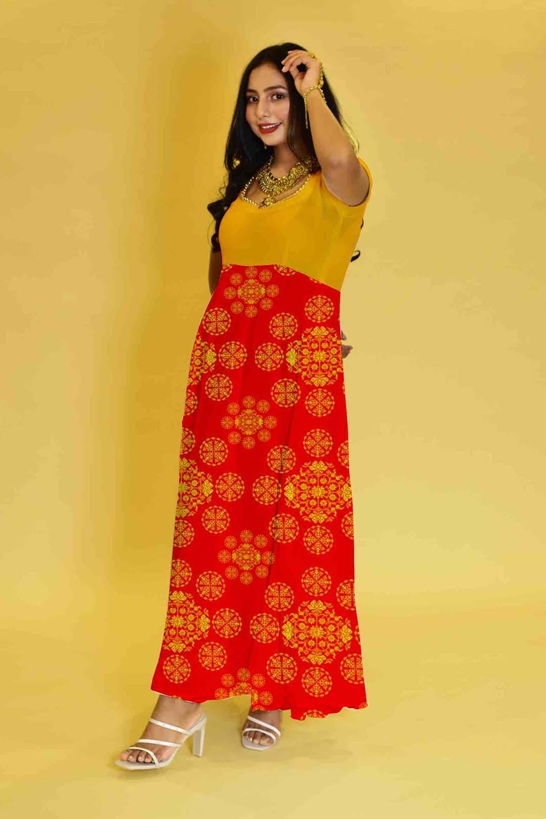 Satin Anarkali Dress – Diva