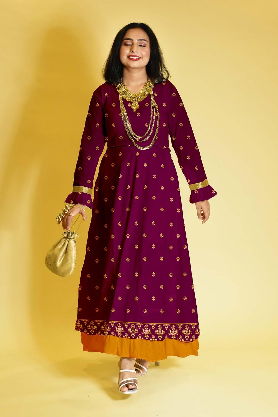 Rayon Anarkali Dress – Chand kab ayega