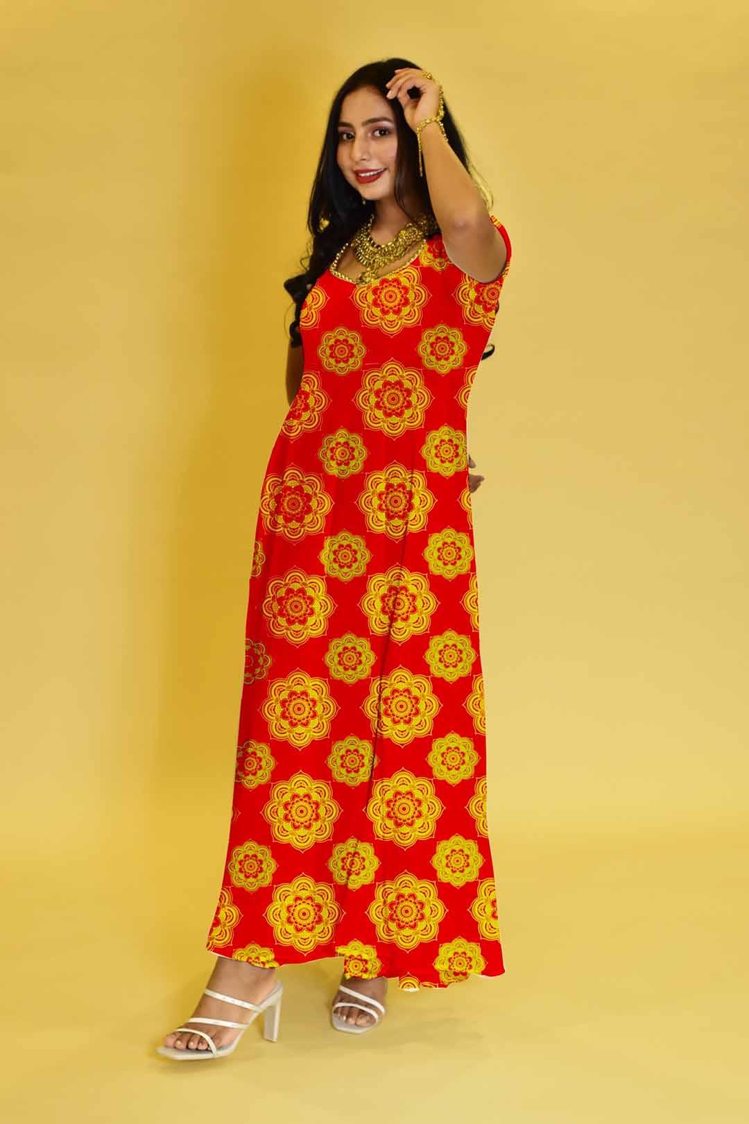 Rayon Anarkali Dress – Brighter Side