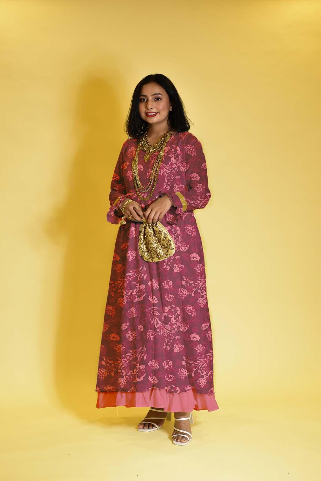 Georgette Anarkali Dress – The royal one