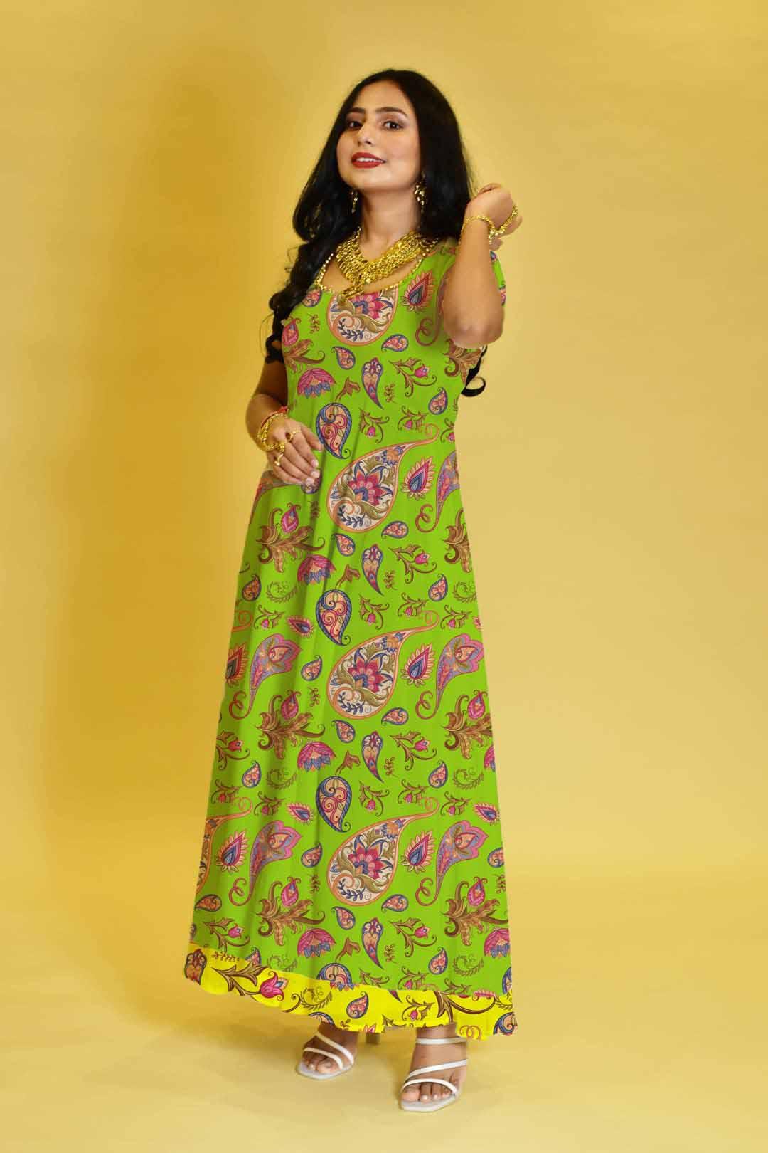 Crepe Anarkali Dress – Happy Petals